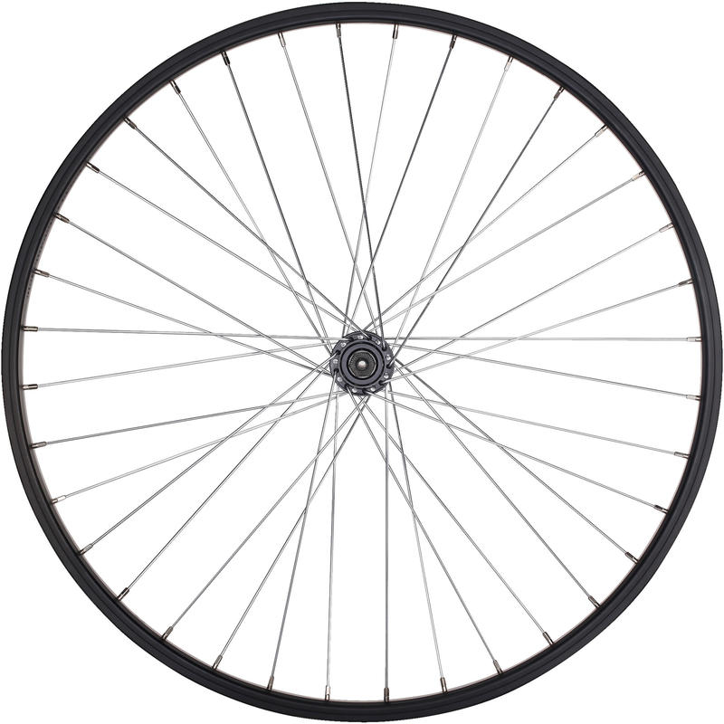Kids' Bike Wheel 24_QUOTE_ Front Single Wall Rim Quick Release - Black