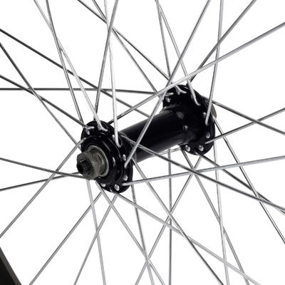 Children's 24-Inch Single-Walled Quick Release Front Wheel - Black