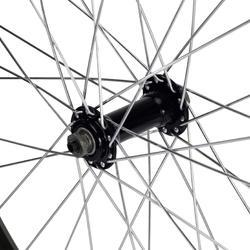 Voorwiel voor kinderfiets 24 inch enkelwandig zwart snelspanner - 1035417