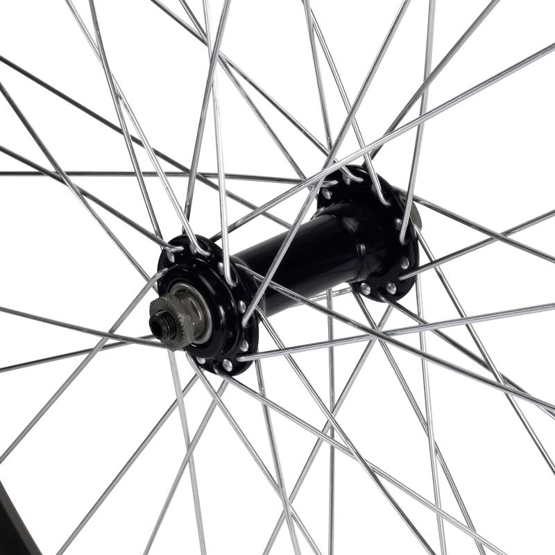 Roue vélo enfant 24 pouces avant simple paroi serrage rapide noir
