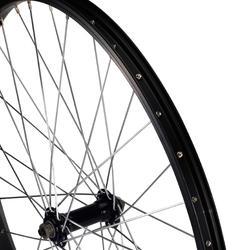 Voorwiel voor kinderfiets 24 inch enkelwandig zwart snelspanner - 1035419