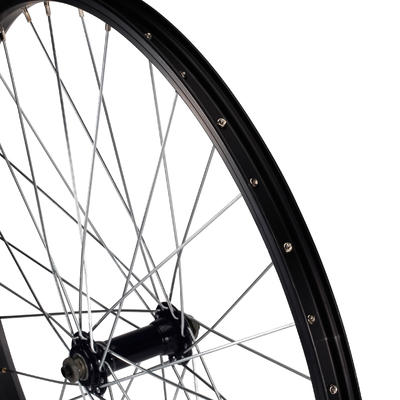 Children's 24-Inch Single-Walled Quick Release Front Wheel - Black