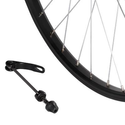 Kids' Bike Wheel 24_QUOTE_ Front Single Wall Rim Quick Release - Black