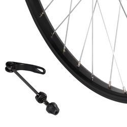 Voorwiel voor kinderfiets 24 inch enkelwandig zwart snelspanner - 1035420