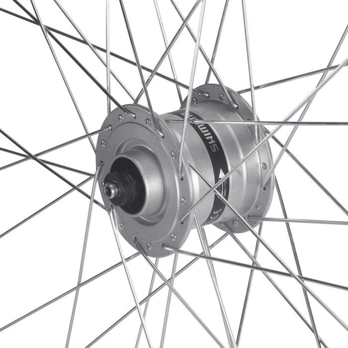 Vorderrad Trekkingbike VTC 28 Einwand Dynamo Shimano