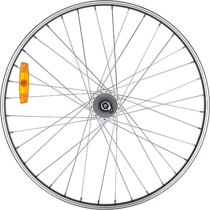 MTB Vorderrad 26 Zoll Dynamo Einwandfelge für V-Brake mit Dynamo von Shimano