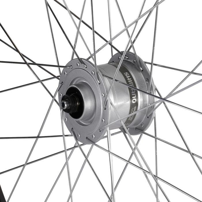 Voorwiel hybride fiets 26'' enkelwandig voor V-brakes met Shimano dynamo
