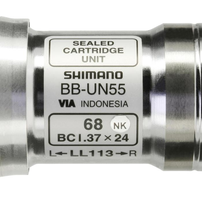 Tretlager/Innenlager Shimano BB-UN55 Vierkant BSA 113 mm