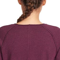 Yoga T-shirt in biokatoen voor dames - 1036008