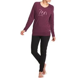 Yoga T-shirt in biokatoen voor dames - 1036009