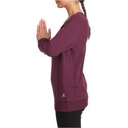 Yoga T-shirt in biokatoen voor dames - 1036016