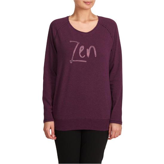 Yoga T-shirt in biokatoen voor dames - 1036022