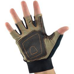 VIA FERRATA 皮製攀岩半指手套