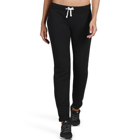 6c4d03fe26b01 Pantalon 500 slim Gym Stretching femme noir   Domyos by Decathlon
