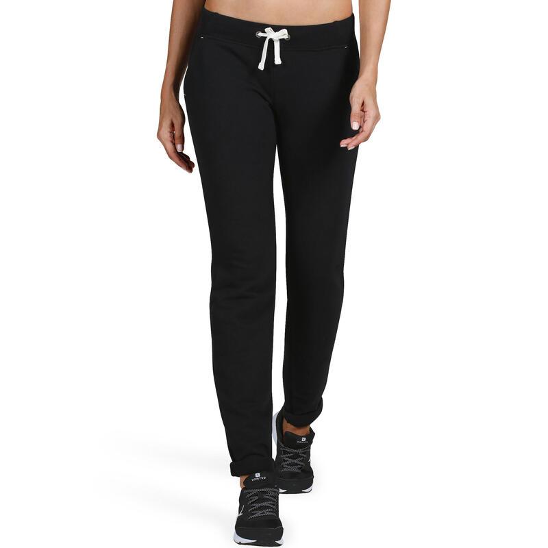 acheter populaire 57374 baba9 Vêtements femme - Pantalon 500 slim Gym Stretching femme noir