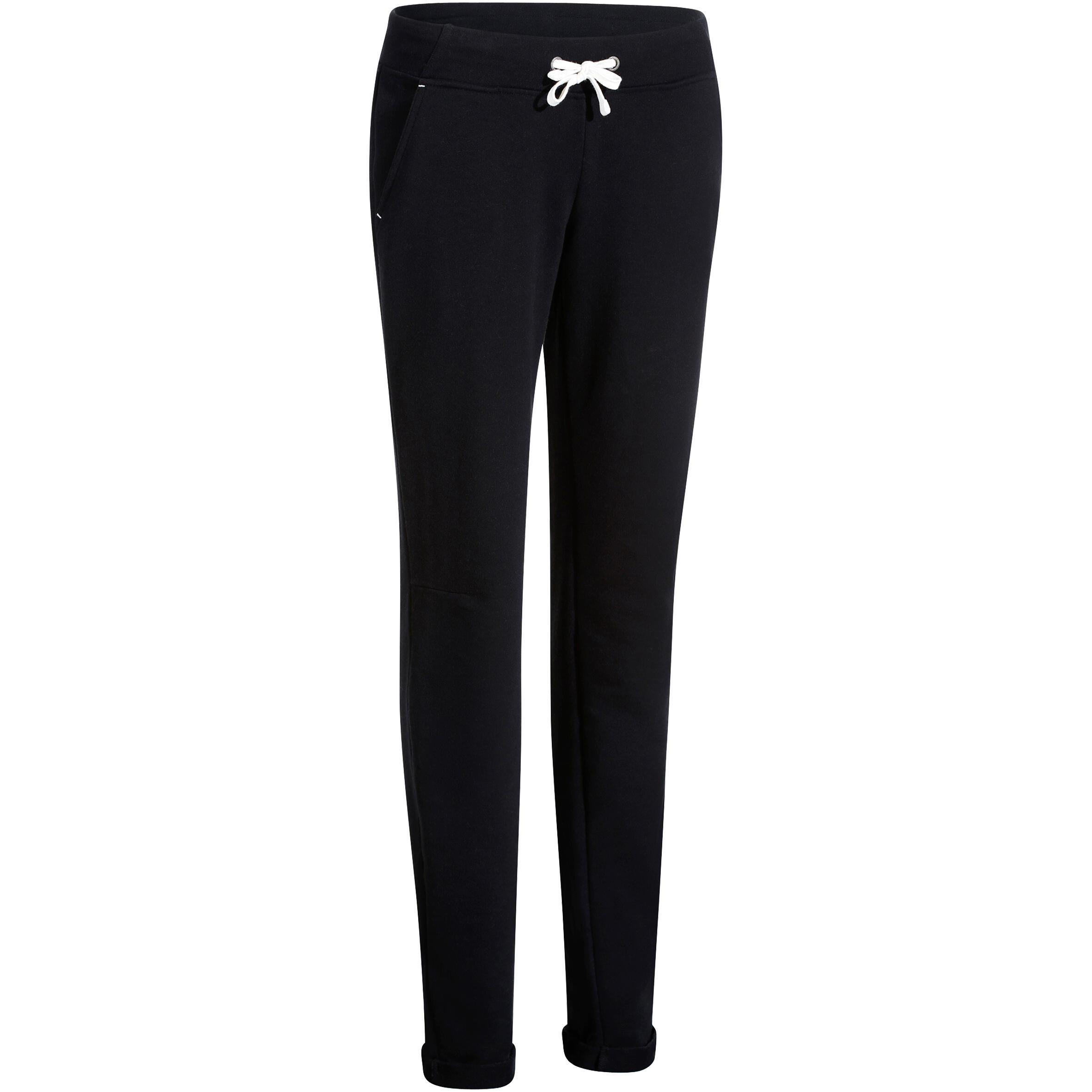 Pantalon 500 mince gymnastique d'étirements femme noir