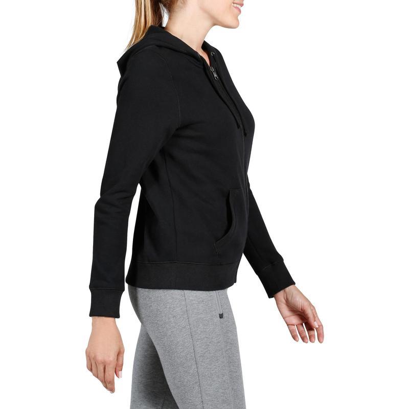 elige mejor estilo novedoso gran selección de 2019 Ropa de mujer - Sudadera Chándal Cremallera Capucha Gimnasia Pilates Domyos  520 Mujer Negra