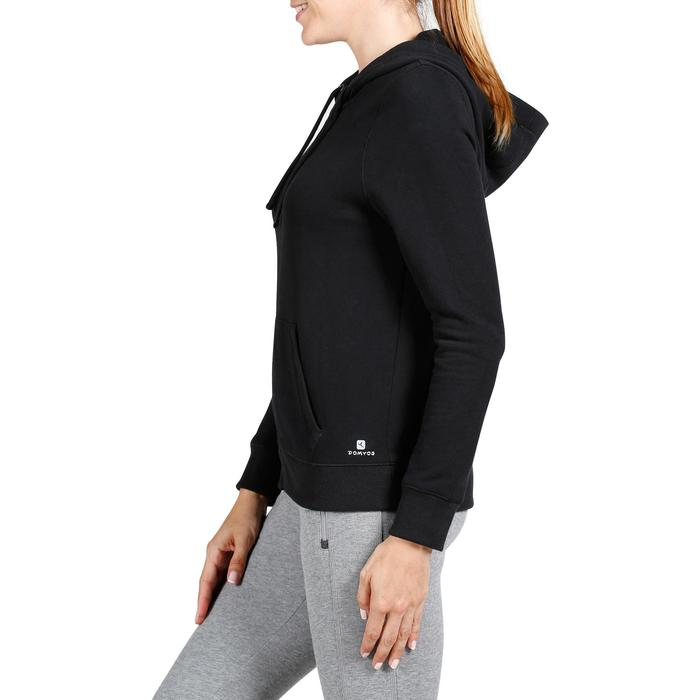 Kapuzenjacke 520 Gym Stretching Damen schwarz