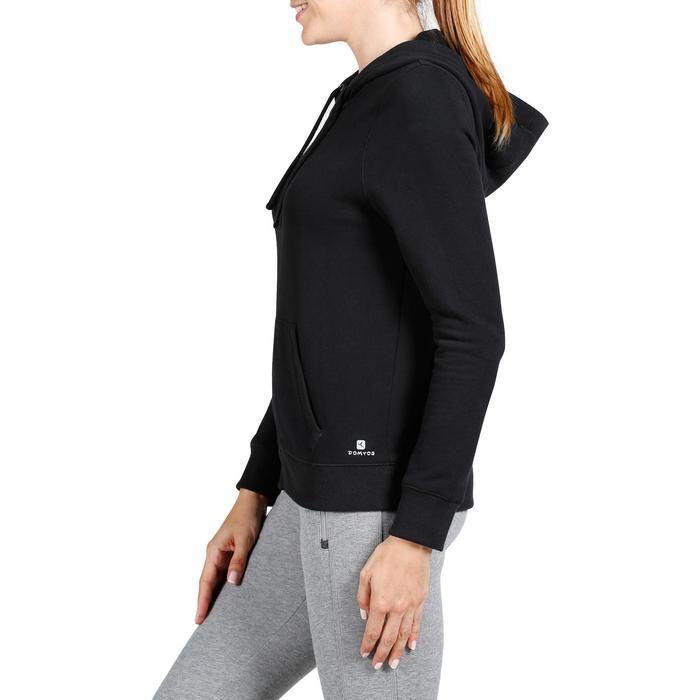 Kapuzenjacke 520 Pilates sanfte Gymnastik Damen schwarz