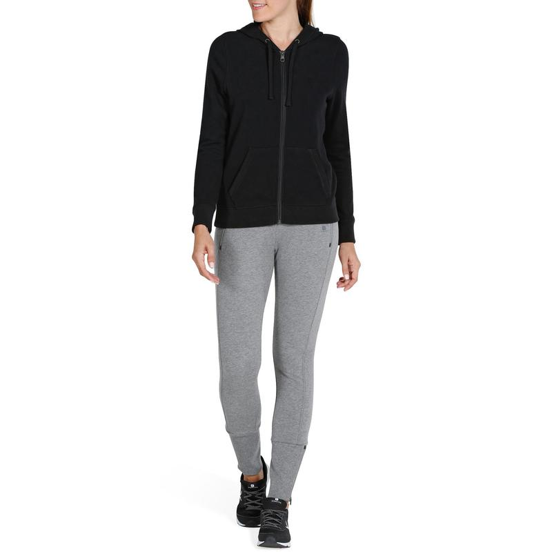 negro Gimnasia Chaqueta 520 by Domyos capucha mujer Stretching 8EEXFrq