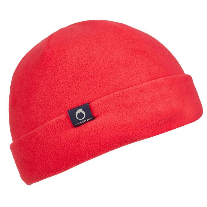 500 Sailing Fleece Hat - Blue/Orange - 1036789