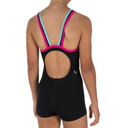Meisjesbadpak Kamiye shorty zwart/roze - 1036796