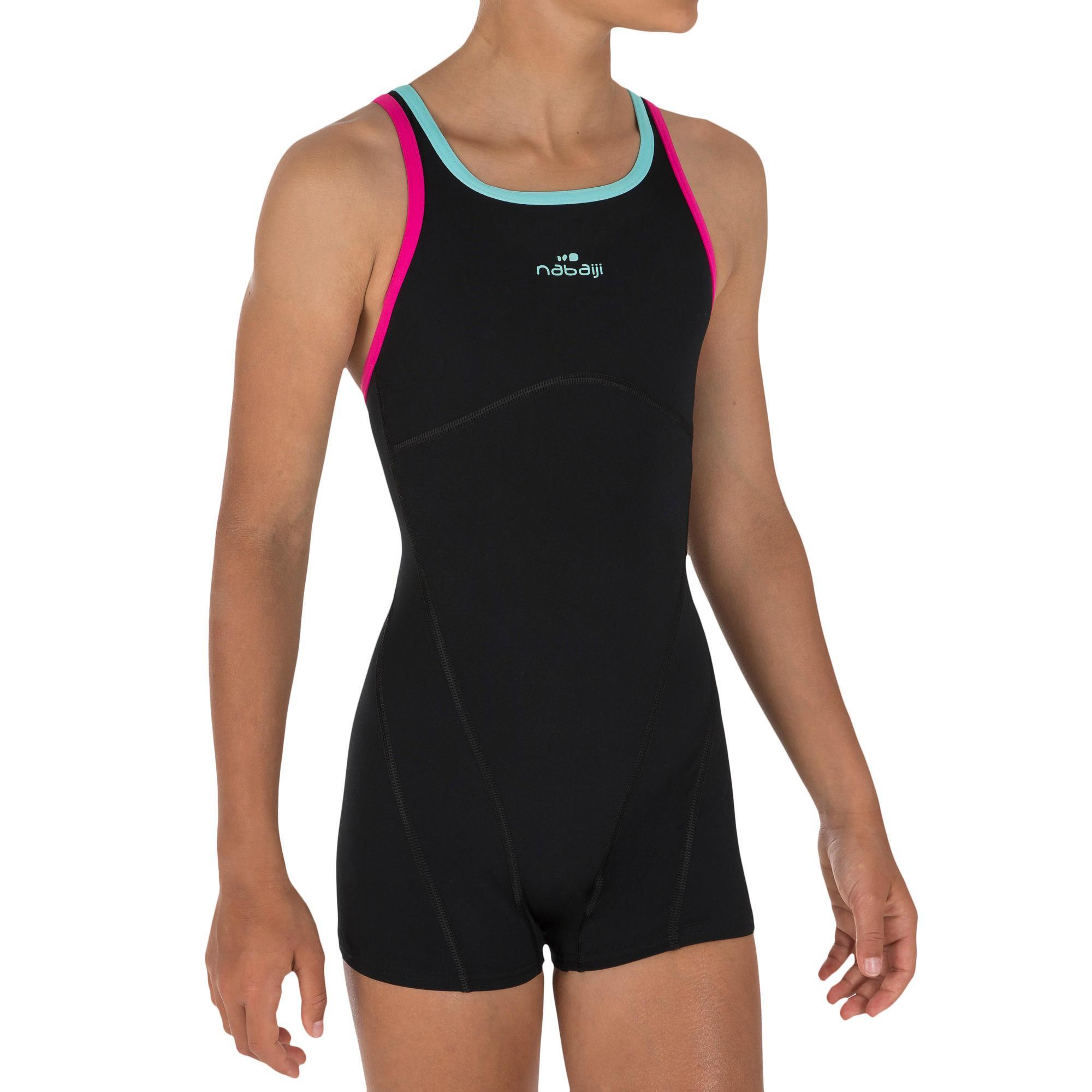 Kamiye Girls One Piece Legsuit Swimsuit Shorty Suit