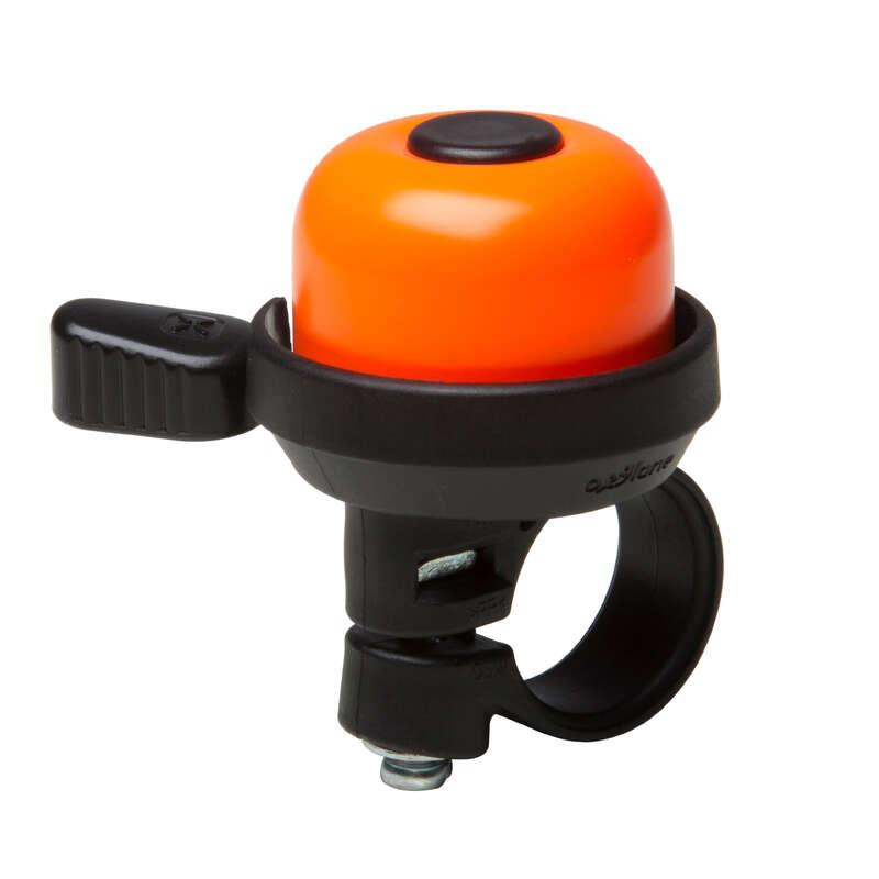 BIKE SAFETY ACCESSORIES Cycling - 100 Bike Bell - Orange B'TWIN - Bike Accessories