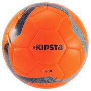 Oranžna nogometna žoga F100 HYBRID (velikost 5)