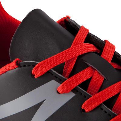 Chaussure de football adulte terrains secs First 100 FG adulte noire blanche