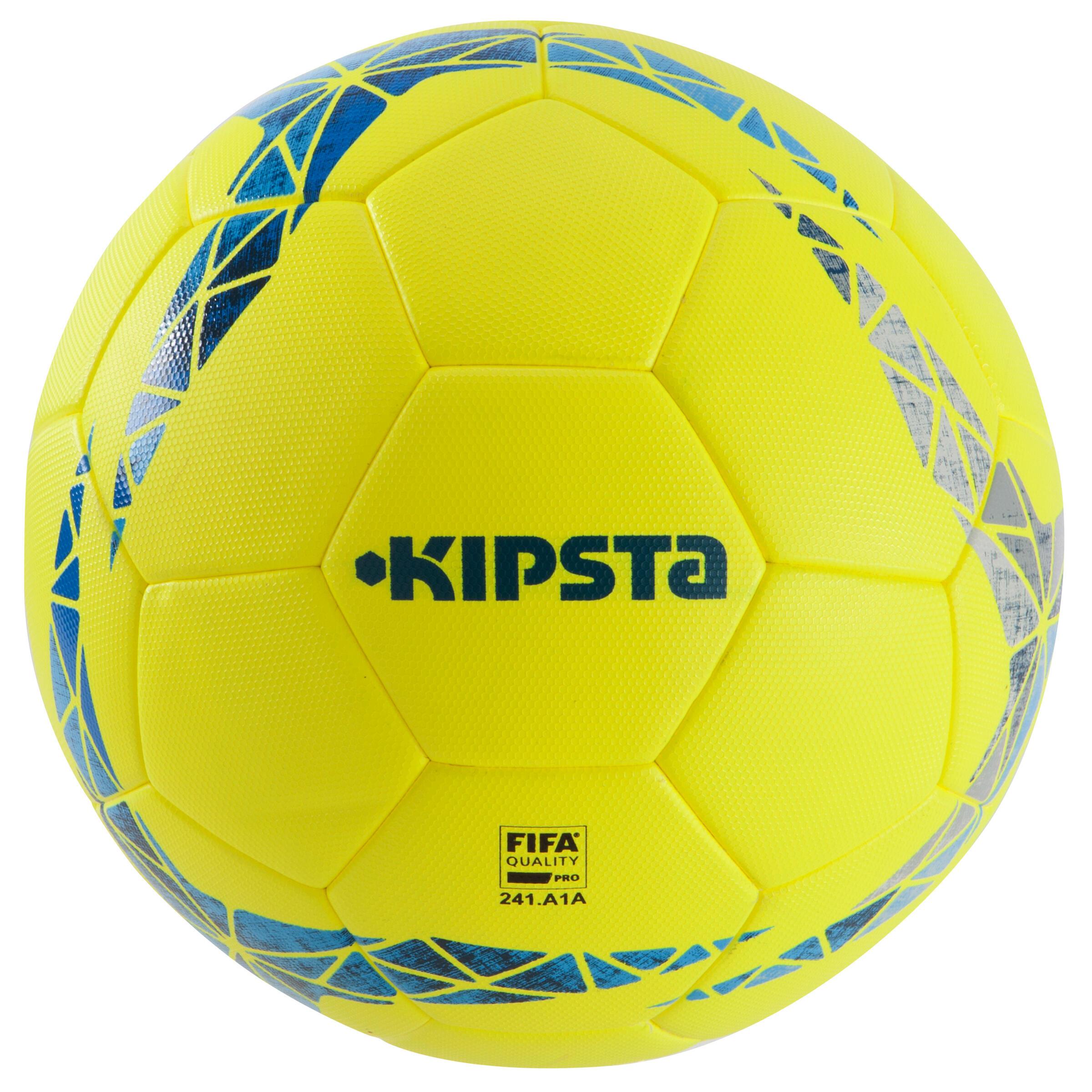 Fußball F900 FIFA Pro thermogeklebt Größe 5 gelb/blau/grau