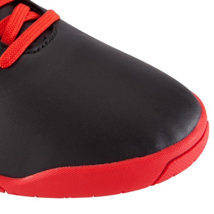 Zaalvoetbalschoenen First 100 voor volwassenen zwart/rood