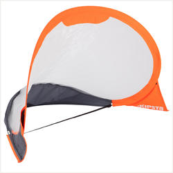 Pop-up voetbaldoel The Kage Easy Folding grijs oranje