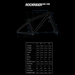 """BTT ROCKRIDER 520 NEGRO 27,5"""""""