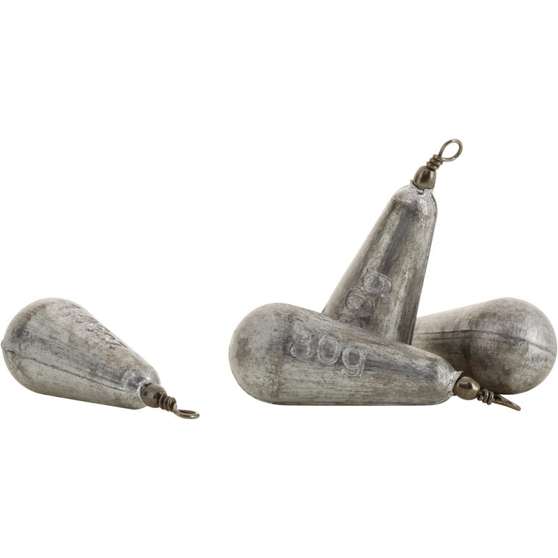 Swivel pear fishing sinker