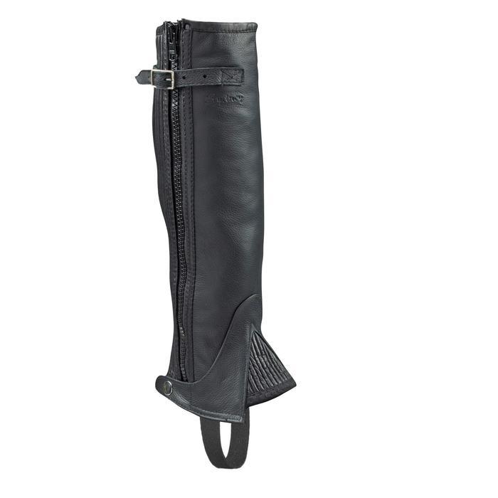Reit-Chaps Lami-Cell Leder Erwachsene schwarz