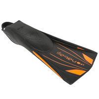 Ласты для плавания Topfins, с длинными лопастями - Черный/оранжевый