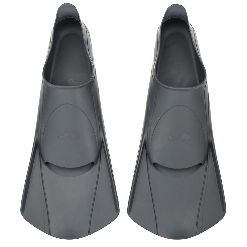 100 SHORT EASYFINS SWIMMING FINS - GREY
