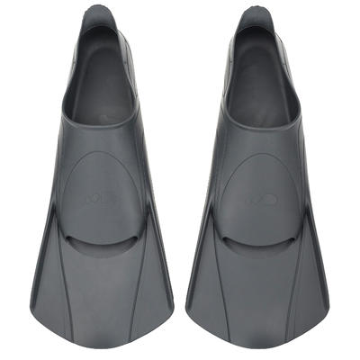 Short Swim Fins Easyfins 100 - Grey