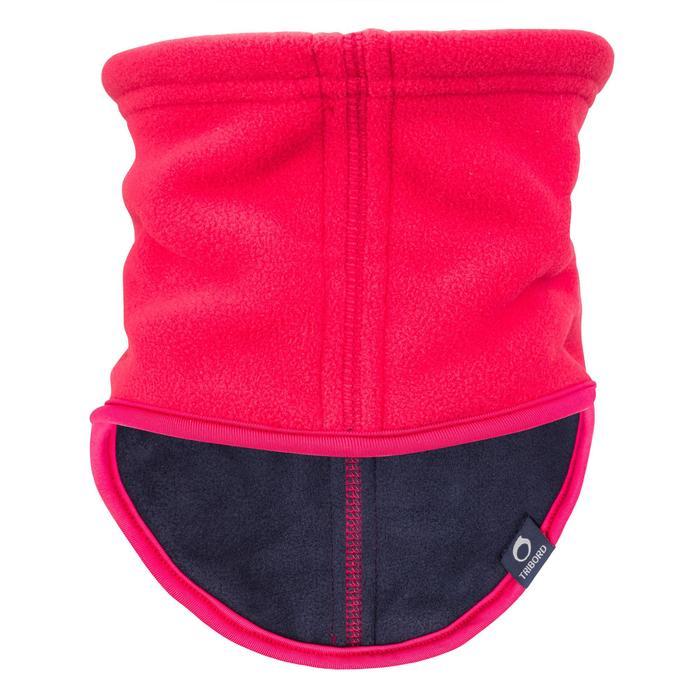 500 刷毛航海保暖圍巾 - 粉 深藍