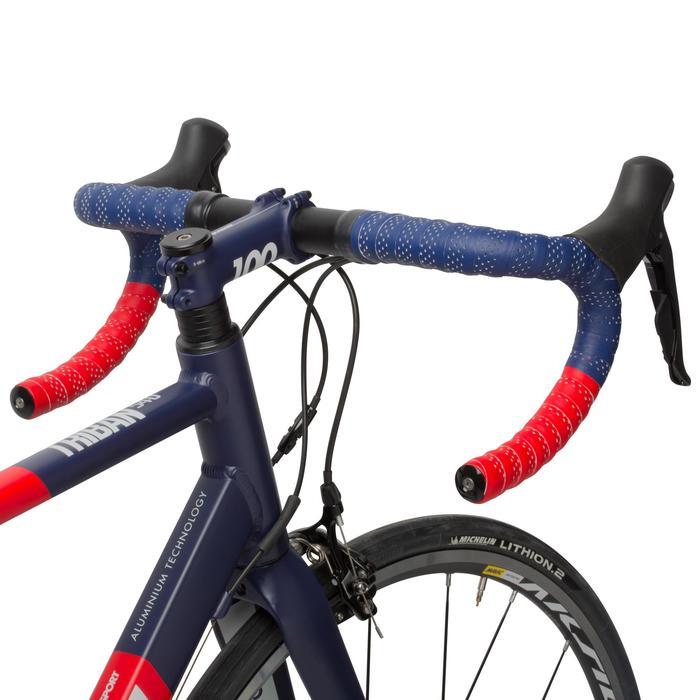 Stuurlinten tweekleurig rood/blauw
