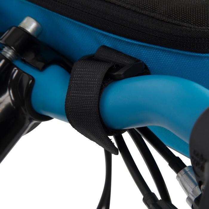 Fahrradtasche vorne Kinder weiß/blau