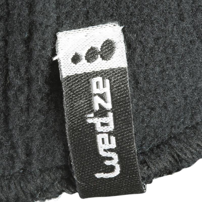 หมวกโม่งผ้าฟลีซเล่นสกีสำหรับเด็ก (สีดำ)