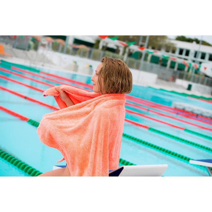 Serviette de bain microfibre ultra douce orange taille L 80 x 130 cm