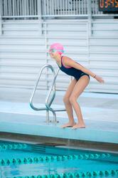 Complete zwemset Leony+ voor meisjes blauw/roze - 1038345