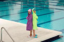 Set voor kinderen met een gele microvezel badjas en gele microvezel handdoek M - 1038348