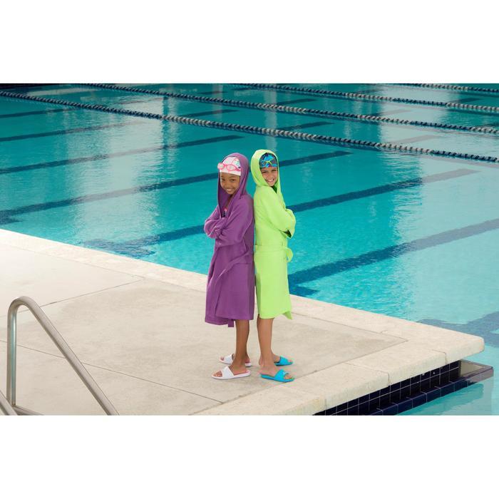 Peignoir microfibre natation enfant avec capuche, poches et ceinture - 1038348