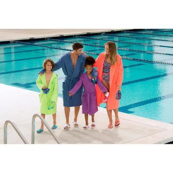 Peignoir microfibre natation enfant avec capuche, poches et ceinture - 1038353