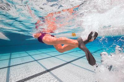 סנפירים לשחייה קצרים EASYFINS - אפור