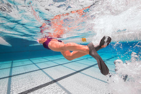 Short Swim Fins Easyfins 100 - Grey